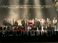 Gruppenfoto auf der Bühne