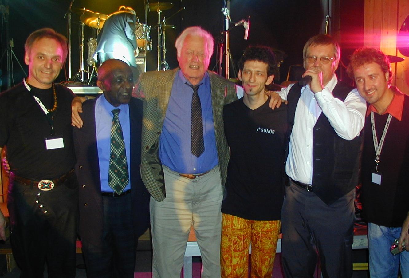2003: 20-Jahr-Feier mit Ed Thigpen, Jojo Mayer, Julio Figueroa und Ehrengast Jim Chapin