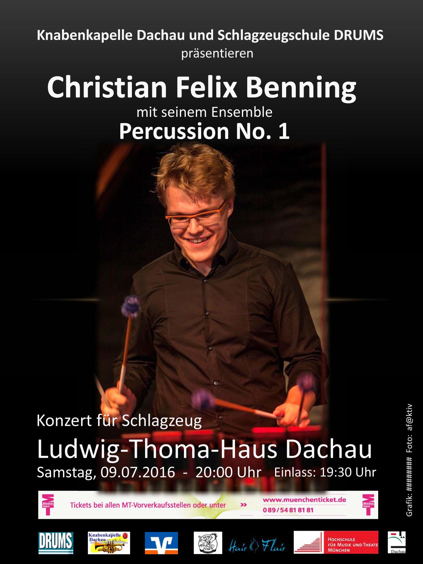 Christian Felix Benning & Percussion No. 1